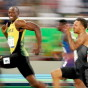 OLYMPIC CHAMPION: Usain Bolt (100m Gold Medal)