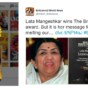 Lata Mangeshkar wins The BrandLaureate Legendary Award